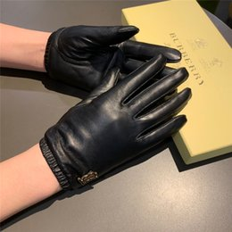 leather gloves for females NZ - Female Riding Gloves Auttumn Winter Genuine Leather Outdoor Five Fingers Gloves Elegant Eye-cathing Golf Gloves for Women
