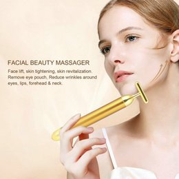 Bar Lift Australia - Slimming Face Bar 24k Gold Colour Vibration Facial Beauty Roller Massager Stick Lift Skin Tightening Wrinkle Bars