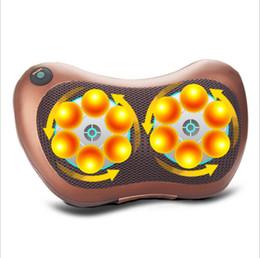 $enCountryForm.capitalKeyWord UK - 8 Drives Electric Shiatsu Heat Massager 12v 30w Brown Pillow Cushion Home Car For Lumbar Neck Knead Back Waist Body SH190713