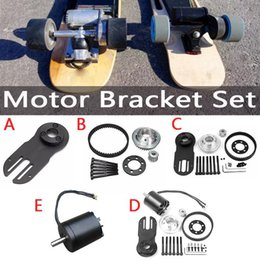 electric wheels kit NZ - 5M Belt Electrical Skateboard Accessories Synchronizing Wheels Motor Bracket Set Gear Belts Kit Punch Machine Motor Mount Parts