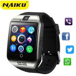 Bluetooth Smart Watch Sim Australia - Bluetooth Smart Watch Smartwatch Q18 Android Phone Call Relogio 2G GSM SIM TF Card Camera for iPhone Samsung HUAWEI PK GT08 A1