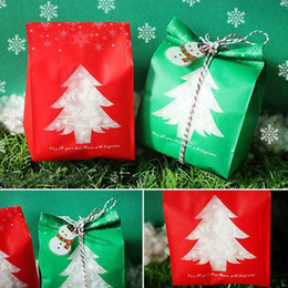 $enCountryForm.capitalKeyWord Australia - 50pcs Red green Christmas Presents Gift Bags Candy Box with Snowflake Xmas Dessert Cookie Bags Decorations for Home Navidad