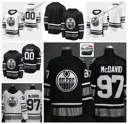 59e4a9d86 2019 All Star Edmonton Oilers Connor McDavid Hockey Jerseys Cheap Black  White Customize Hockey Shirts  97 Connor McDavid Stitched Jerseys