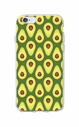 Coque Iphone 6s UK - Cute Avocado Food Pattern Soft Phone Case Cover Coque Fundas For Iphone 6 6s 6plus 7 7plus 8 8plus X Xs Max Samsung Galaxy