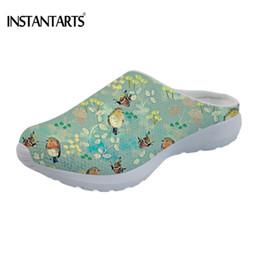 slip female shoes 2019 - INSTANTARTS Women Sandals 2019 New Female Shoes Woman Cute Bird Flower Butterfly Summer Comfortable Sandals Ladies Slip-