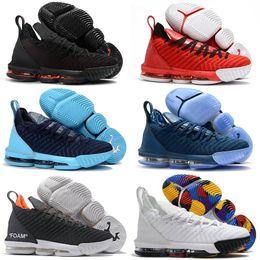 Опт 2019 Новый Lebron XVI 16 Высокое качество горячей продажи Баскетбольная обувь Мужская спортивная обувь на открытом воздухе 16 s мужские кроссовки Обувь