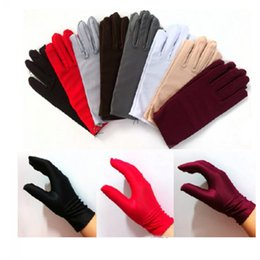 $enCountryForm.capitalKeyWord Australia - 1 Pair New Fashion Elegant Lady Women Solid Satin Short Gloves Prom Party Costume Dance Fancy Culticolor Wrist Gloves