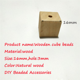 unfinished wood craft wholesalers Australia - 16mm Wood Cubes Beads with Holes Unfinished Solid Wood Beads For Jewelry Necklace Creations DIY Craft and Building Projects