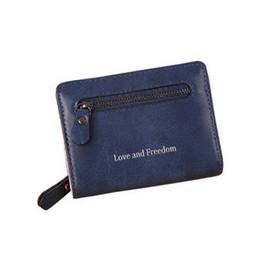 $enCountryForm.capitalKeyWord Australia - fashion Zipper Short Change Wallet Women's 2-fold Wallet Multi-card Coin Bag Simple Women's PU Leather Wallet
