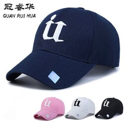 baseball caps manufacturers Australia - New Style Embroidered U Letter Baseball Cap Fashion Trend Visor Outdoor Tourism Sun Duckbill Hat Manufacturer Wholesale