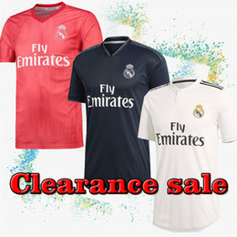 14458ba7e 2018 2019 Thailand Real Madrid Jerseys 4 Ramos 7 Ronaldo Soccer Jerseys  Real Madrid White home Soccer Jersey 9 Benzema clearance sale