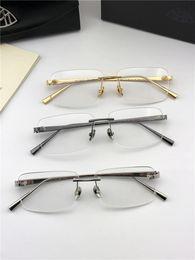 EyEglass framEs rimlEss mEn online shopping - Fashion brand MAYBACH prescription eyeglasses THE VISUAL rimless frame optical glasses clear lens simple business style for men