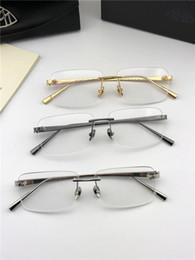 Vente en gros Lunettes de vue de la marque de mode MAYBACH THE VISUAL, sans monture, lunettes optiques, lentille claire style simple d'affaires pour hommes