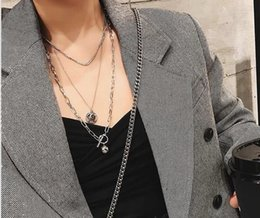 Chain Netting Australia - European and American cool fashion metal ball coins overlapping net red necklace OT spike sweater chain jewelry