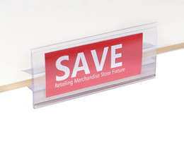 Sign holder clip online shopping - 4 cm price tag card frame middle clip label holder strip price tag ticket sign shelf cover POP advertising banner showing display strip