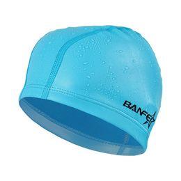 e1c1ae7fd New PU Swimming Cap For Women Swim Pool Beach Protect Ears Hair Bathing Hat  For Boys Girls Long Hair Lady Swim Cap Men