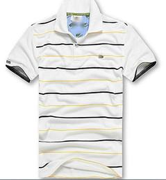 Size 11 ShortS online shopping - New fashion Casual high quality Summer Hot Sale Stripe T shirt lapel Polo Cotton Shirt Men Short Sleeve Sport Polo T Shirt size S XL