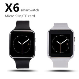 $enCountryForm.capitalKeyWord Australia - New X6 Smart Watches With Camera Touch Screen Support SIM TF Card Bluetooth Smartwatch For Iphone X Samsung Phone goophone with Retail Box