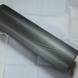 $enCountryForm.capitalKeyWord Australia - Dark grey 3D carbon fiber vinyl wrap Car Wrapping Film Sheets With Air Drain Top quality 1.52x30m Roll 4.98x98ft