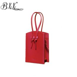 Shoulders Knots Australia - BXX Bag   2019 New Fashion Woemn Casual Handbags Niche Design Knotted Vertical Small Square Bag Shoulder Messenger Bags ZC066