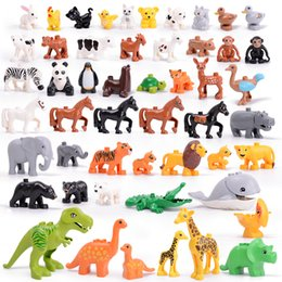 $enCountryForm.capitalKeyWord Australia - Animal Series Model Figures Big Building Blocks Animals Educational Toys For Kids Children Gift Compatible With Legoed Duploe