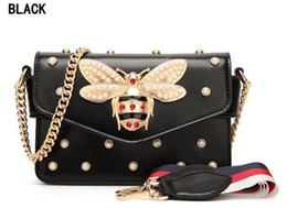 Kid Gems Australia - Gem Little Bee Women Messenger Bag Desinger Pendant lady leather Clutch handbag Kids handbags women bags designer