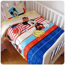 $enCountryForm.capitalKeyWord NZ - Promotion! 3PCS Cartoon Baby Cot Baby Bedding Set Character Crib Cotton Bedcloth,Duvet Cover Sheet Pillow Cover,