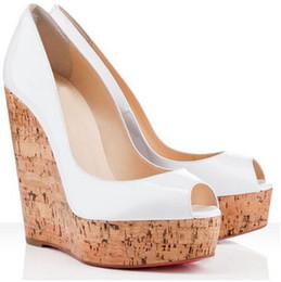 $enCountryForm.capitalKeyWord Australia - Summer Platform Wedge Une Plume Sling Red Bottom Ladies Wedges Women Dress Pumps Comfortable patent leather Peep Toe High Heels EU35-42