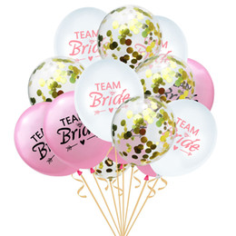 birthday party decoration sets Australia - 2020 Popular Team Bride Balloons For Wedding Sequins Filled Multicolor Latex Balloons Novelty Kids Toys Birthday Party Decorations AL2511