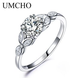 Wholesale Sterling Silver Bridal Rings Australia - Brand 925 Sterling Silver Rings Cubic Zircon Bridal Ring For Women Solitaire Engagement Party Brand New Arrival Wedding Rings