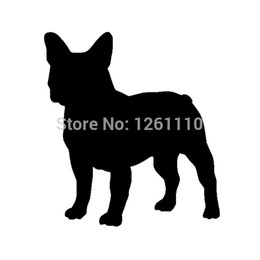 pink canoe 2019 - wholesale 20pcs lot French Bulldog Dog vinyl Decal Car sticker SUV Truck Boat Window Bumper Kayak Canoe Home Wall Black