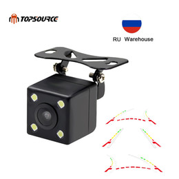 advance camera Australia - TOPSOURCE Advanced Dynamic Parking Track Car Back Reverse CCD Dynamic Trajactory Rear View Camera 170 Night vision Waterproof