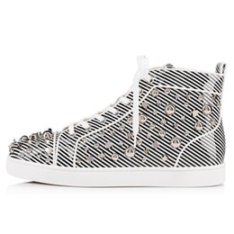 buy online bc429 429ff Hot 2019 Rivets Men Shoes boots High-Top Casuals Shoes Spike Sneakers  Outdoors Flats Leather Rivets Homme Men Shoes Outdoors Flats