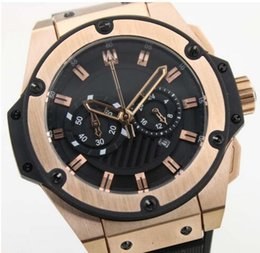 Wholesale watches big size gold king power watch quartz chronograph stopwatch watch man s dress wristwatches