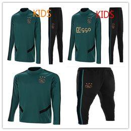 Boys tracksuit online shopping - new Ajax training suit Ajax KIDS tracksuit VAN DE BEEK DOLBERG Kluivert football uniform Size XXS L