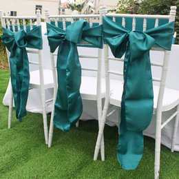 $enCountryForm.capitalKeyWord Australia - 20pcs lot Modern Chair Sashes 15*275cm Satin Chair Covers for Wedding Decorations Banquet Event Party Supplies 8 Colors