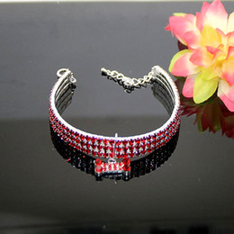 collar dog row NZ - Three Row Elastic Force Collar Pet Dog Accessories Collars Flash Circular Popular Necklace Sell Well With Different Size 9 9mp J1