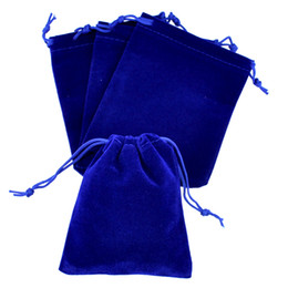 Royal blue gift bags online shopping - 50Pcs Royal Blue Velvet Bag x12cm Small Wedding Candy Gifts Jewelry Packaging Bag Cute Velvet Drawstring Gift Bag Pouches