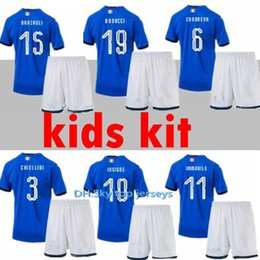 be24b1a16 NEW Italy 2018 2019 2020 kids Kits Home Youth Jersey 18 19 Bonucci Verratti  Chiellini INSIGNE Belotti Jerseys Italy KIDS Football Uniforms