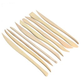 $enCountryForm.capitalKeyWord Australia - Perfect Wood Carving Crafts Wooden Clay Sculpture Knife Pottery Sharpen Modeling Little Figurines Pottery Tools