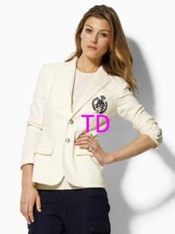 $enCountryForm.capitalKeyWord Canada - Global Spring Autumn Women Polo Jacket Blazer Single Breasted Long Sleeve Cotton Ladies Casual Jackets USA Business Coats White Black