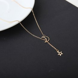 Necklaces Pendants Australia - Simple Moonstar Necklace Necklace Short necklace Spot wholesale Handcrafted Pendant Accessories for men and women New Personality Jewelry