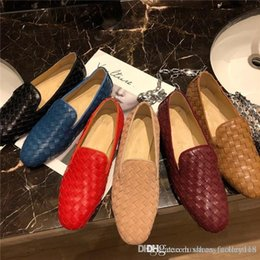 $enCountryForm.capitalKeyWord Australia - Classic slippers,Features hand-woven shoes, Calfskin casual shoes for women Flat shoes with large leather soles