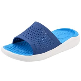 06c70316f Mens Beach Unisex Summer Beach Flip Flops Designer Fashion 2019 Sandals  Hollow Out Casual Breathable slippers Flats Shoes  89