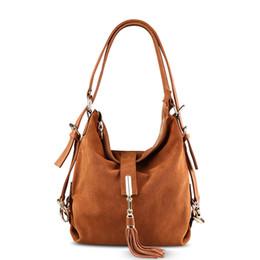 $enCountryForm.capitalKeyWord UK - Women Real Split Suede Leather Shoulder Bag Female Leisure Nubuck Casual Handbag Hobo Messenger Top-handle bags