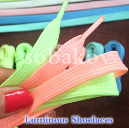 Wholesales Shoelace Charms Australia - Luminous Shoelaces For Kid's Casual Shoes Fluorescent Party Shoestring Novel Gift Glowing At Night
