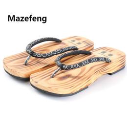 a990001f29f Mazefeng Nuevo Zapatos Unisex Sandalias Geta de Madera para Hombre Zuecos  Geta Chinos Clásicos Zapatillas de Madera Para Hombre Chanclas Japonesas  Zuecos