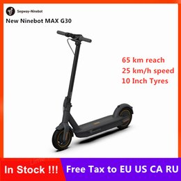 Wheel max online shopping - New Original Ninebot MAX G30 KickScooter Foldable Smart Electric Scooter Hoverboard W Power Km h inch wheel Km mileage