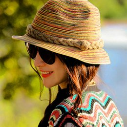 embroidered straw hats Australia - Fashion Women's Summer Straw Hat Seaside Beach Casual Spring Holiday Street Natural Style Straw Hats Gorro Sombrero Mujer Verano #47497