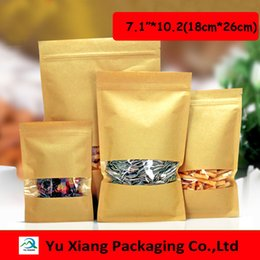 """$enCountryForm.capitalKeyWord Australia - 100pcs lot 7.1""""*10.2"""" (18cm*26cm)*140mic Brown Kraft Paper Gift Candy Bags Wedding Christmas Party Packaging Bag Recyclable Food"""